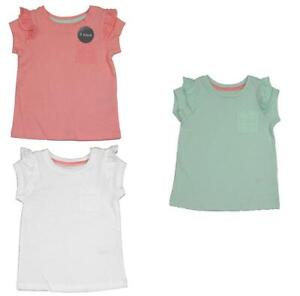 New Nutmeg Girls 3 Pack Short Sleeve Frill Top - Free 1st Class Postage