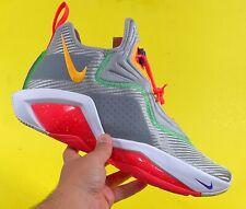 Nike LeBron Soldier 14 'HARE' Lt Smoke Grey Orange Pulse Men Size 14 CK6024-001