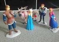 5 Pcs Disney Frozen Cake Toppers Figures Elsa Anna Sven Kristoff Hans UK