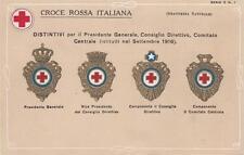 9696) CROCE ROSSA,SERIE 2 N. 1. DISTINTIVI PRESIDENTE, CONSIGLIO E COMITATO.