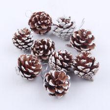 9PCS Christmas Pine Cones Bauble Xmas Tree Party Hanging Decoration Ornament DE