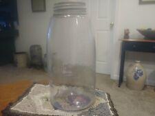 Antique Clear Glass Mason's Patent 1858 1/2 Gal Mason Fruit Jar