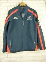Hyundai World rally team Racing team Jacket Blue, red print Sz M softshell