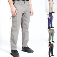 Mens Mian® Cargo Trousers Lightweight Elasticated Combat Pocket Work Pants M-3XL