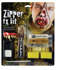 Halloween Deluxe Zombie Zipper Special Fx Makeup Kit Blood Gore Horror Wounds