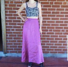 Vintage Long Metallic Pink Skirt