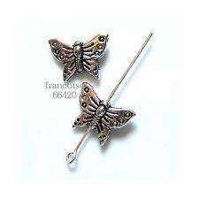 5 Intercalaires spacer Papillon 12x16x4mm Perles apprêts création bijoux _  A174