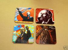 Vladimir Lenin Russian Leader Drinks Coaster Set