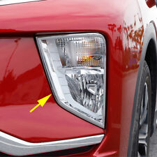 For Mitsubishi Eclipse Cross Chrome Front Fog Light Lamp Surrounds Cover Trims