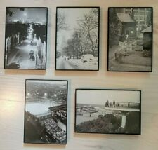 Set of 5 Historic Pittsburgh Photos in Display Frames - Great Gift or Decor!