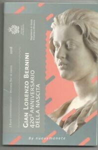 "SAN MARINO folder 2018 2 euro ""420° anniv. nascita G.L. BERNINI"" DISPONIBILE"