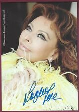 "Sophia Loren, Italian Actress, Signed 4"" x 5 7/8"" Color Photo, COA, UACC RD 036"