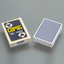COPAG Poker Size Jumbo Face 100% Plastic Playing Cards Blue - One Deck