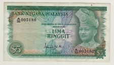 A/35 005180 RM5 1st Series Ismail Ali Malaysia