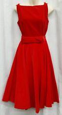 Vintage 50s JANE COMPTON Set S Red Crushed Velvet Sleeveless Tank Blouse Skirt