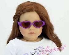 "Heart Shaped Plastic Sunglasses PURPLE fit 18"" American Girl Doll eyewear"