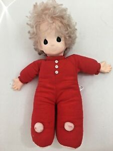 "CHRISTMAS PRECIOUS MOMENTS RED 16"" DOLL Vintage 1993"