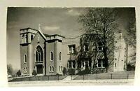 RPPC Deer Lodge Montana Immaculate Conception Church Real Photo Postcard
