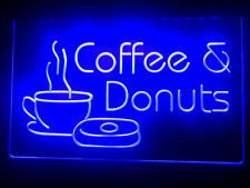 Donuts Coffee Shop Neon Led light Sign Cafe Bar decor size 12 x 8 in