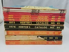 Herters Catalogs Set of 14 Hunting Fishing Archery Guns Traps Outdoors Camping