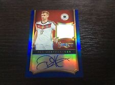 2015 Panini Select Soccer Per Mertesacker Germany Blue /15 Jersey Auto Autograph