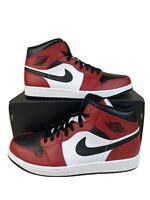 Nike Air Jordan 1 Retro MID Chicago Toe MEN 554724-069 Red White Black SIZE 12.5