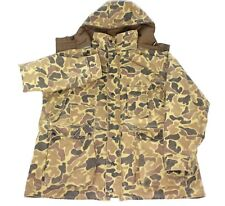 Mens Vtg Woolrich Coat Sz Large Camo Camouflage Goretex Hunting Hooded Jacket