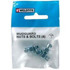 Weldtite Mudguard Stay Nuts and Bolts Pack of 4 Eye bolts