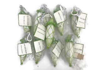 Arcadia Home Holiday Heirlooms Christmas Tree Ornaments Beaded Fabric Set of 9
