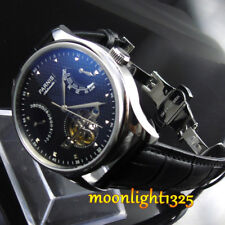 Parnis 43mm black dial power reserve seagull  Automatic movement Men's watch p11