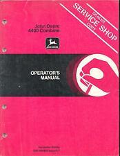 John Deere 4400 Combine Operator's Manual Om-H98956