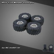 4Pcs 1/10 Monster Truck Tire Tyres for Traxxas HSP Tamiya HPI Kyosho RC Car O7U6