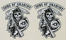 2x SOA Aufkleber Sons of Anarchy Samcro Rocker Biker Skull MC Oldschool V2 MG307