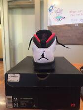 2012 Nike Air Jordan Retro 10 Size 11 White/Black/Red Shoes Men's