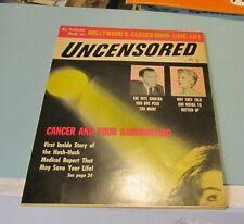 September 1959 Uncensored Magazine Anita Ekberg Kim Novak Brigitte Bardot Photos