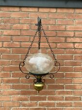 Ceiling Light A Vintage French Oil Lamp Style Wrought Iron Antique Country Style