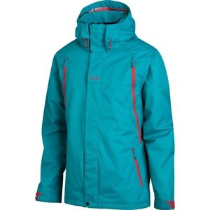 Oakley Goods Shell Snowboard Jacket Mens S Teal Hood Regular Fit Winter Sports