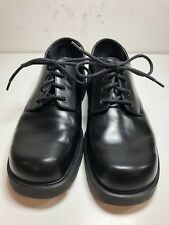 Skechers G-Tech Plain Toe Alley Cats Black Leather Work Casual Oxfords Size 11