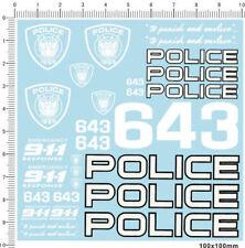 Water Slide Decals Transformers POLICE 911 643 (437)
