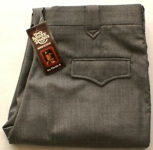 VINTAGE Circle S Kenny Rogers Collection Mens Dakota Western Dress Pants 38 Long