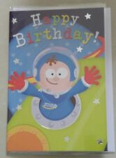Luxury Boys Childs Astronaut Space Birthday Card & Envelope Not Personalised