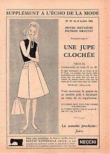 ▬► Patron Couture Écho de la Mode - 1962 N°27- Taille 48 50 52 - Jupe clochée