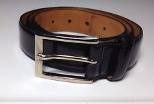 Brooks Brothers Black Leather Belt Size 34 Men's Lot H10