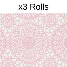 x3 Rolls Fablon Contour Rose Pink Stationary Crafts Self Adhesive Film Vinyl