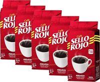 Sello Rojo Medium Roast Ground Coffee, 16 oz Bricks (Pack of 5)