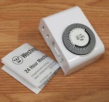 Genuine Westinghouse (TM416) Solid White 24 Hour Mechanical Timer Only **READ**