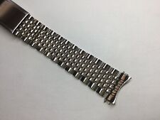 NEW 18MM 316L SOLID STAINLESS BEAD OF RICE STEEL BAND BRACELET FOR OMEGA 1503