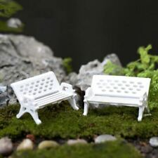10Pcs/lot Mini Garden Decoration Chairs Fairy Garden Miniatures Terrarium Figuri