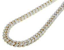 "Over Cuban Link Chain Mens 30""Inch Christmas Special Diamond 14k Yellow Gold"