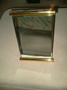 GENUINE CHOPARD LARGE BRASSY GOLD SWING MIRROR SHOP DISPLAY VERY RARE USED